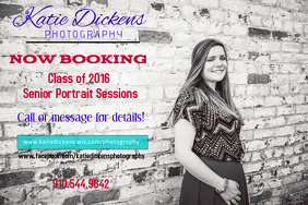 Senior Portrait Session Photography Flyer