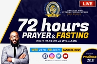 72 HOURS PRAYER AND FASTINING Label template