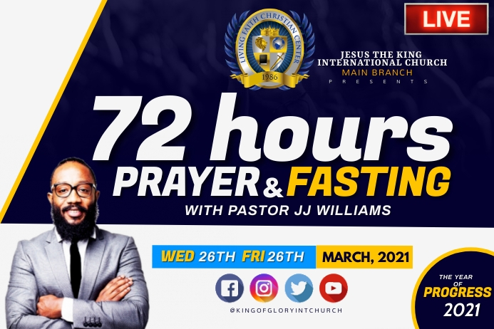 72 HOURS PRAYER AND FASTINING Etiket template