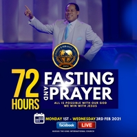 72 HOURS PRAYER AND FASTINING Instagram Post template