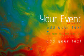 Colorful Paint Simple Modern Event Club Venue Art Poster