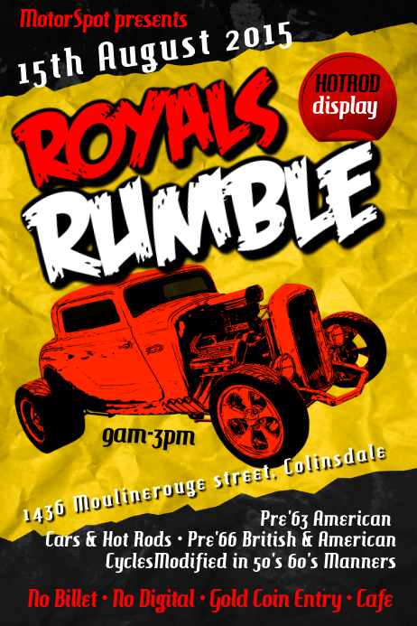 Hot rod show poster