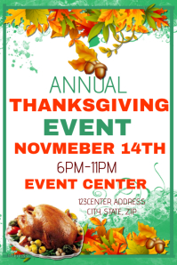 Annual Thanksgiving Dinner Event Template