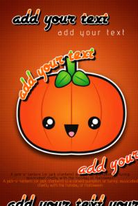 Halloween Cute Jack O' Lantern Pumpkin Event Invite Flyer Poster Wall Decor