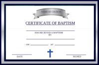 Certificate of Baptism