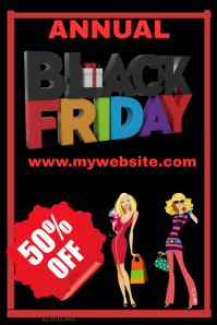 Annual Black Friday Sales Event Template โปสเตอร์