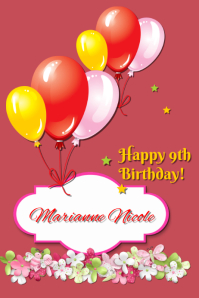 7270 Customizable Design Templates For Birthday Card