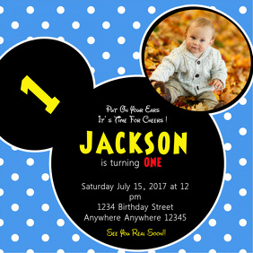 Baby Birthday Instagram Invitation Template