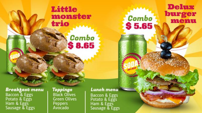 Burgers Digital Menu Template