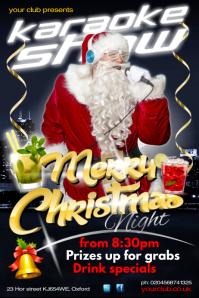 Christmas Karaoke Show Poster Póster template