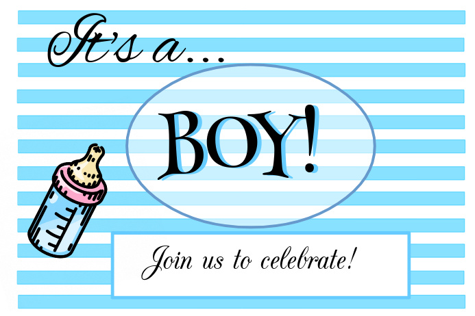 it s a boy baby announcement template postermywall