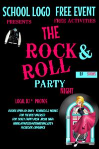 School Rock N Roll Dance Event Template