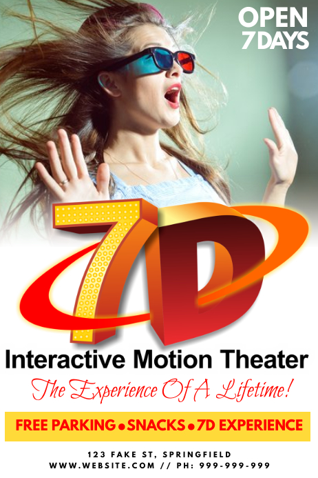 7D Cinema Poster 海报 template