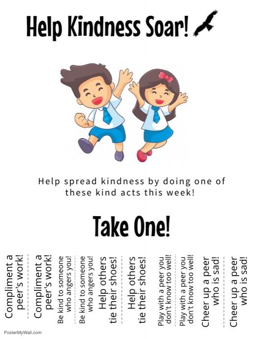 The Kindness Challenge Flyer 3