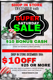 Christmas Super Sale Event Template