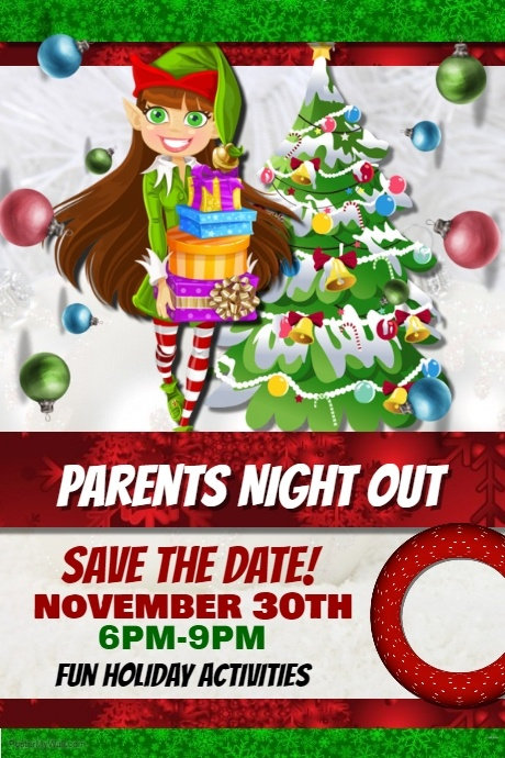 Copy of Parents Night Out Holiday Shopping Event Template