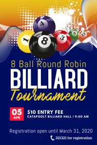 8 ball billiard tournament template