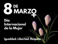 8 de marzo dia internacional de la mujer Folder (US Letter) template