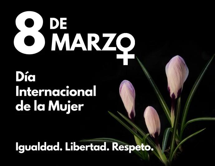 8 de marzo dia internacional de la mujer Folheto (US Letter) template