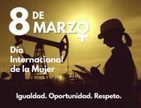 8 de marzo dia internacional de la mujer Flyer (US-Letter) template