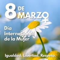 8 de marzo dia internacional de la mujer template