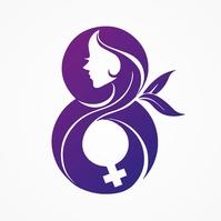 8 March International Women's Day Logo template