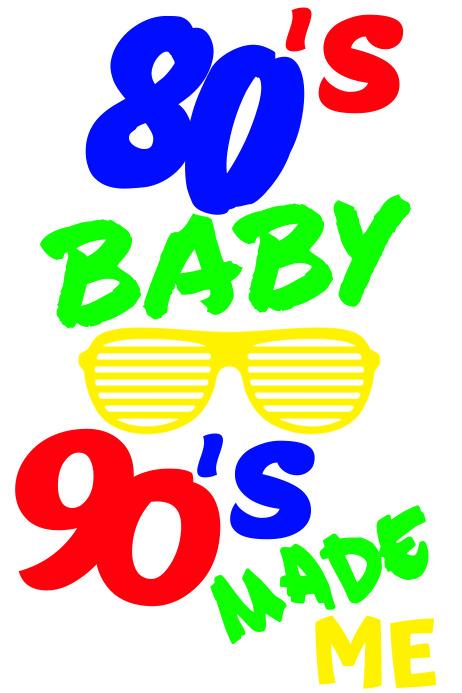 80's baby Plakkaat template