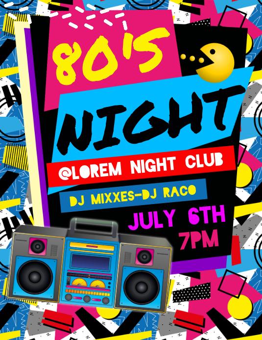 80'S Night Flyer Pamflet (VSA Brief) template
