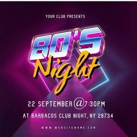 80's Night Video Ad