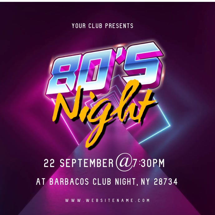 80's Night Video Ad