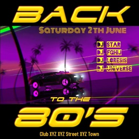 80's Party 80s Back to the eighties club oldschool retro