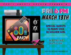 80's Party Club Flyer