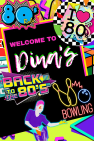 80's Party Welcome Sign