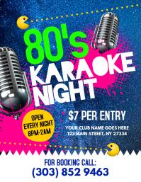 80's Karaoke Night Flyer