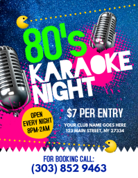 80's Karaoke Night Flyer