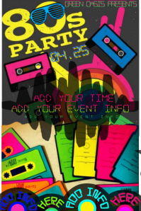 80's Party Flashback Throwback Dance Wig Costume Event