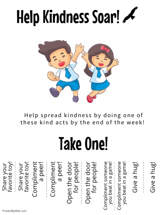 The Kindness Challenge Flyer!