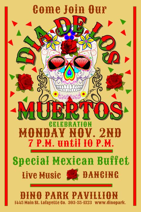 Dia De Los Muertos Poster Templates Postermywall