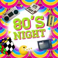 80s Night Carré (1:1) template