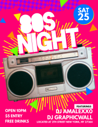 80s Night Flyer