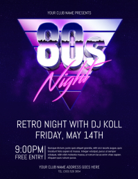 Customizable Design Templates For 80s Party Postermywall