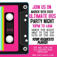 80s Party Night Instagram Template