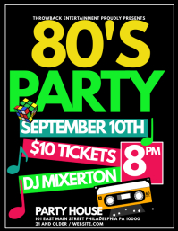 80s Party Flyer (US Letter) template