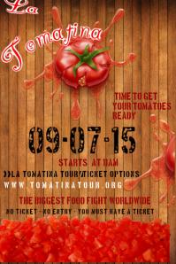 La Tomatina Event Festival Food Festival Poster flyer