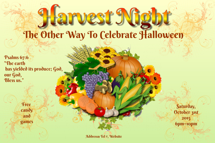 Harvest Night 2 Poster template
