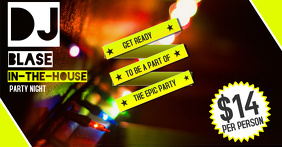 DJ Party Facebook Image Template