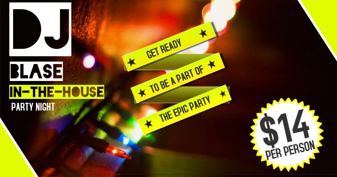 DJ Party Facebook Image Template