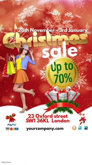 Christmas Sale Poster