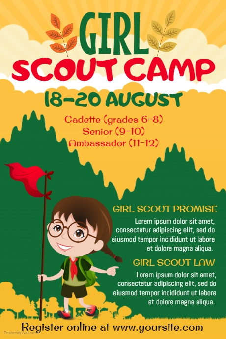 Girl Scouts Poster Template