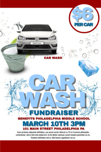 Customizable design templates for fundraiser postermywall for Car wash poster template free